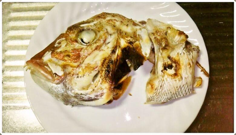 天然真鯛のあら炊き・頭の塩焼き・鯛皮ポン酢レシピ