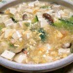 歯の悪い人でも食べられる柔らか豆腐とエビの煮込み