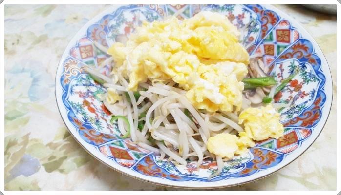 モヤシの卵あんかけ炒め【簡単節約ダイエットレシピ】