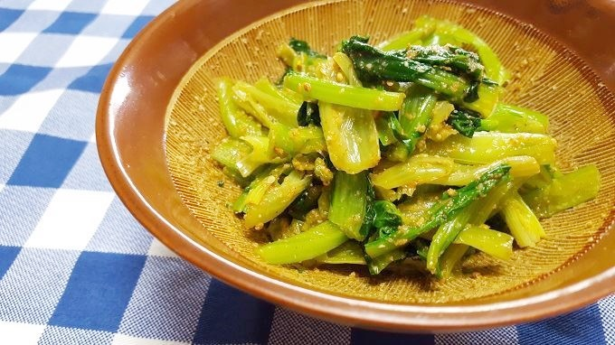 小松菜の辛子和え~カルシウム満点のお手軽お惣菜