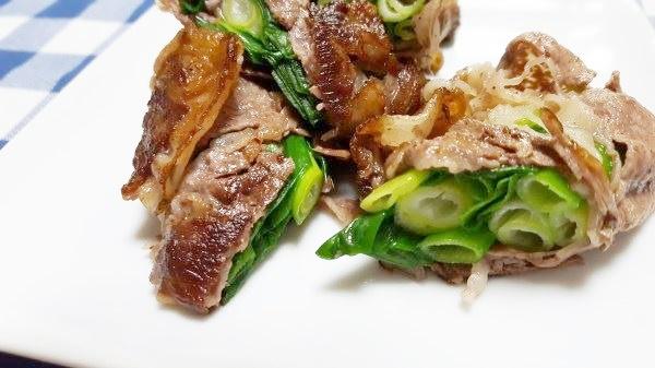 牛肉のネギ巻き~巻いて焼くだけの簡単レシピ!