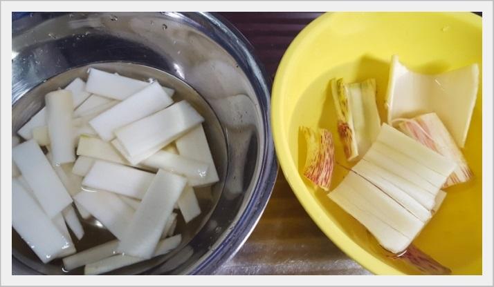ウドの酢味噌和え~自家製酢味噌も簡単に作れます