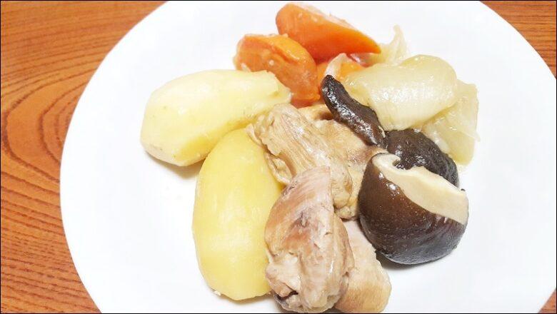鶏肉でつくる肉じゃがレシピ【圧力鍋で柔らか】
